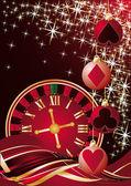 Christmas casino greeting card. vector illustration — Stock Vector