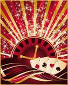Casino christmas card, vector illustration — Stock Vector