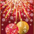 Royalty-Free Stock Vector Image: Christmas greeting card with two balls, vector illustration