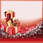 Red christmas card. vector illustration — Stockvektor
