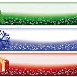 Winter christmas banners, vector illustration — Stock Vector