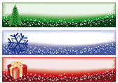 Winter christmas banners, vector illustration — Stok Vektör