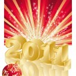 2011 new year composition 3d. vector illustration — Stock Vector