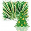 Stock Vector: Background tree christmas , vector illustration