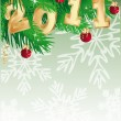 2011 new year banner. vector illustration — Imagen vectorial
