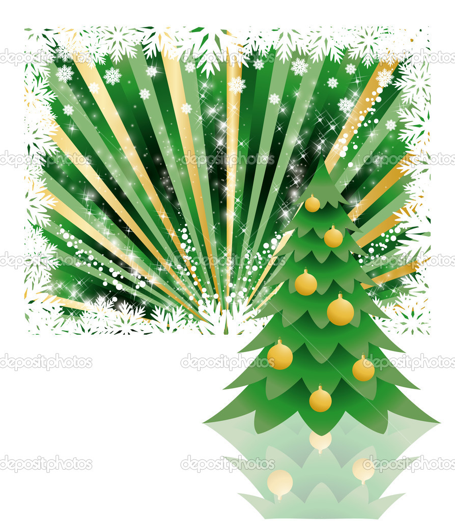 Background tree christmas , vector illustration — Stock Vector #4161311
