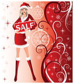 Christmas sale background, vector — Stock Vector