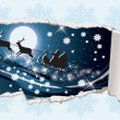 Christmas banner and Santa Claus. vector illustration — Imagen vectorial