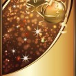 Golden Christmas card, vector illustration — Stock vektor