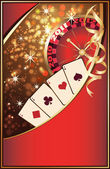 Casino Christmas invitation card. vector illusration — Stock Vector