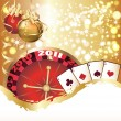 Casino Christmas greeting card. vector illustration — Vettoriali Stock