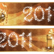 Two banners New year 2011. vector illustration — Stock Vector