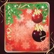 Christmas greeting card with two red balls. vector illustration — Stock Vector #4388693