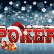 Christmas Poker greeting background. vector illustration — Stock Vector #4422180