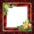 Christmas framework or invitation card, vector illustration — ベクター素材ストック