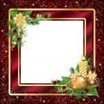 Christmas framework or invitation card, vector illustration — Stock Vector