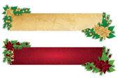 Christmas banners, vector illustration — Stock Vector
