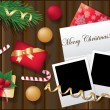 Royalty-Free Stock Vector Image: Two framework for christmas photo. vector illustration