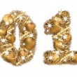 2011 New Year golden banner. vector — Stock vektor