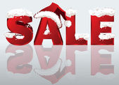 Winter sale banner in 3D image. vector illustration — Cтоковый вектор