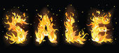 Bandeira de queima de estoque. ilustração vetorial — Vetor de Stock