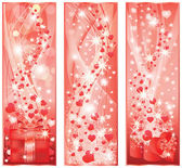 Valentines day banners. vector illustration — Stock Vector