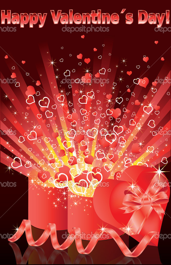 Happy Valentines Day, greeting card. vector illustration  Stock Vector #4655611