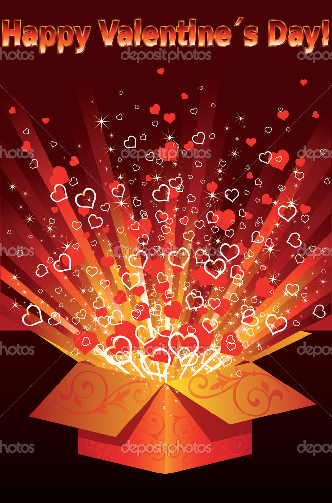 Greeting card Happy Valentines Day. vector illustration  — Stock Vector #4655619