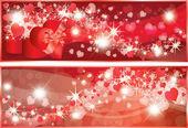 валентина сердца баннеры. векторные иллюстрации — Cтоковый вектор