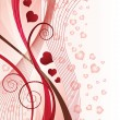 Valentines Day greeting card, vector illustration - Imagens vectoriais em stock