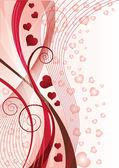 Valentines Day greeting card, vector illustration — Vector de stock