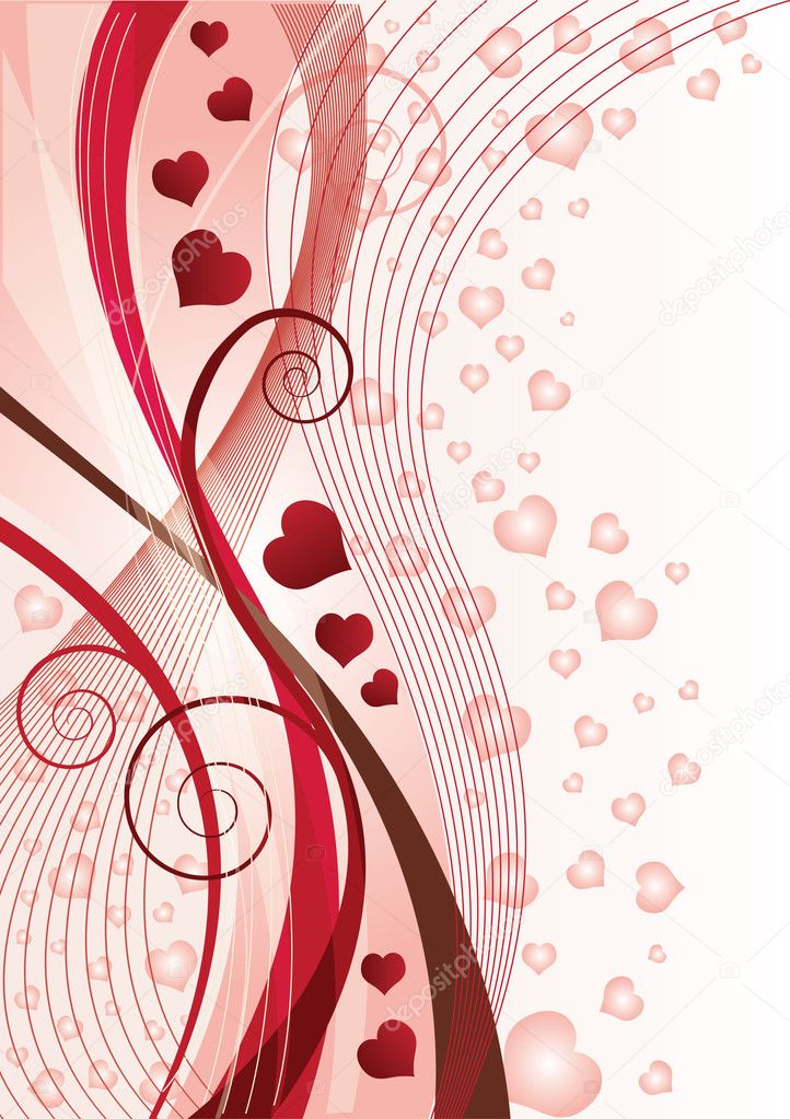 Valentines Day greeting card, vector illustration — Vektorgrafik #4676720