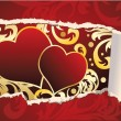 Stock Vector: Love card for valentines day or wedding. vector illustration