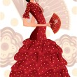 Spanish flamenco dancer. vector illustration - Stock Vector