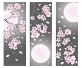 Spring flower banner. vector illustration — Stock Vector