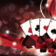 Casino background with poker cards. vector illustration — Vector de stock #4973249