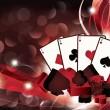 Casino van achtergrond met pokerkaarten. vectorillustratie — Stockvector