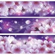 Stock Vector: Spring banners with Sakurflowers. vector illustration