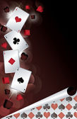 Casino banner med poker kort. vektor illustration — Stockvektor