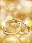 Golden wedding rings, vector illustration — Stock Vector