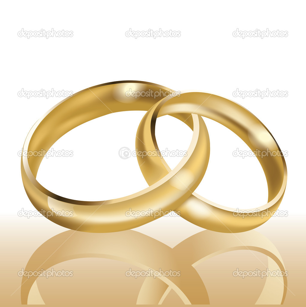 Wedding rings, symbol of marriage and eternal love, vector - Stock ...