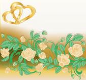 Love invitation card. vector illustration — Stock Vector