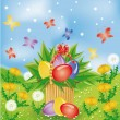 Royalty-Free Stock Vector Image: Easter basket , vector illustration