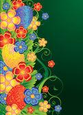 Easter floral banner, vector illustration — Stock Vector