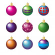 Stock Vector: Christmas decoration balls