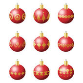 Christmas decoration balls — Stock Vector