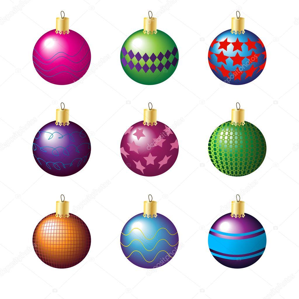 Christmas decoration balls stock vector hfng08 4007106 for Ball balls christmas decoration