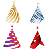 Christmas decoration trees — Stock Vector
