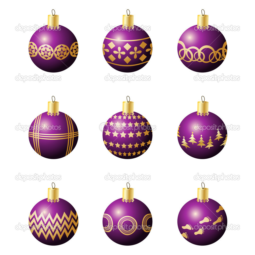 Bolas de navidad decoraci n vector de stock 4213567 - Bolas decoracion ...