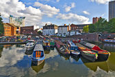 View on the canal, Birmingham. — Stock Photo
